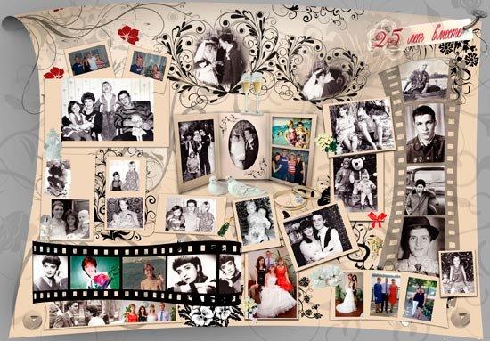 Плакаты на серебряную свадьбу фото