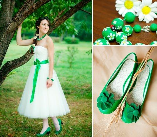 Свадьба в зеленом цвете разнообразие