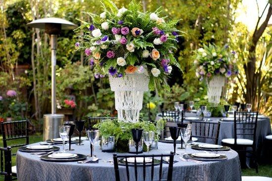 Декор сапфировой свадьбы
