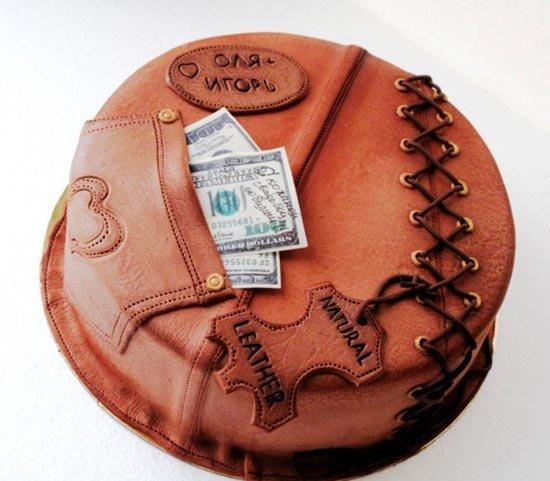 Кожаный тортик