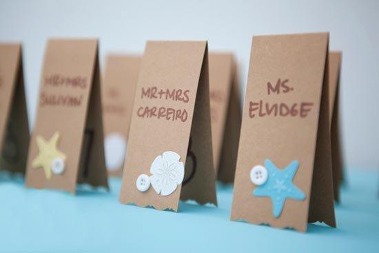 Карточки для гостей своими руками фото