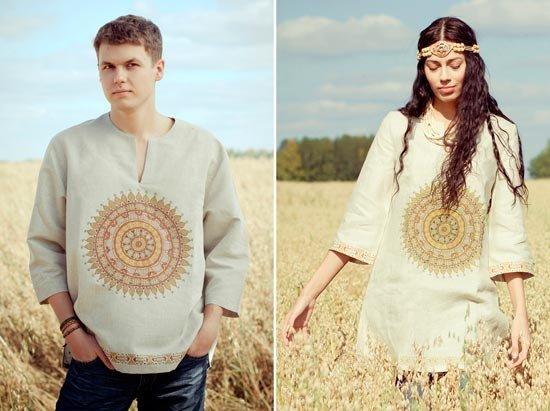 Льняная одежда для супругов