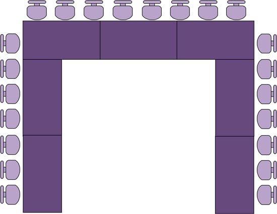 U-образная расстановка столов