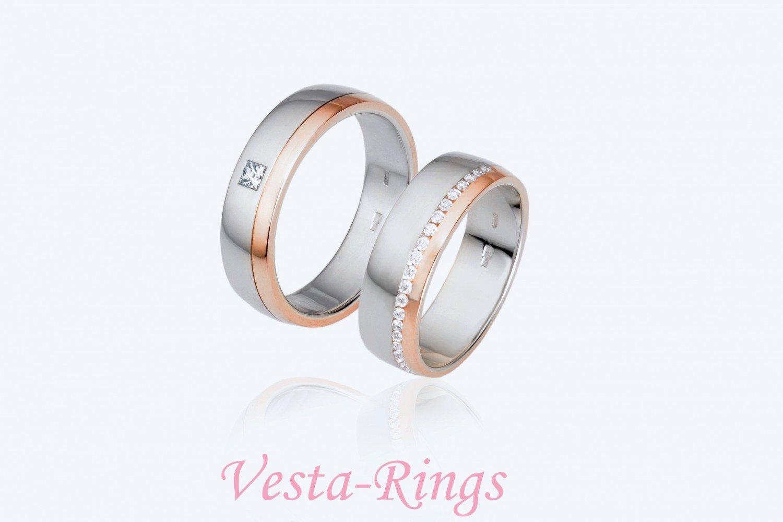 Фотоальбом: Оригинальные обручальные кольца от компании Vesta-Rings